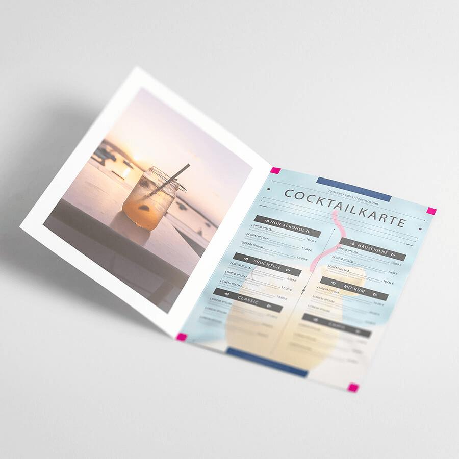 Cocktailkarte Selbst Gestalten.Getrankekarten Gunstig Online Drucken Wirmachendruck De
