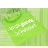 Stofftasche Einkaufstasche Stoffbeutel Tragetasche bedruckt grünes Beispiel