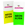 Neon-Flyer 10,4 cm x 29,7 cm - Icon Warengruppe