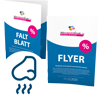 Flyer mit Duftlack - Warengruppen Icon