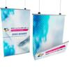 Deckenanhänger hängende Werbebanner inklusive Schienen System