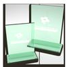 Pokal aus Glas und Glastrophäe mit Logo eingraviert