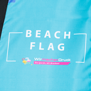 Beachflag in Detailansicht