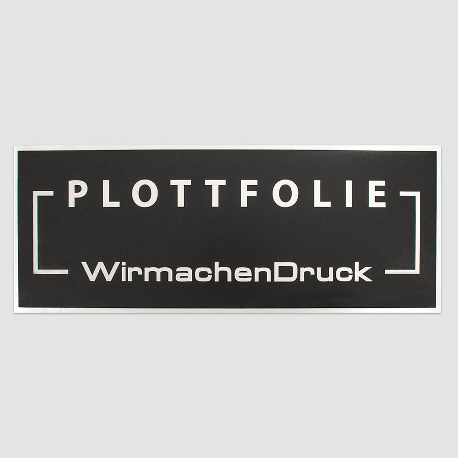 Plottfolie in Anthrazit, mit Kontur und Text