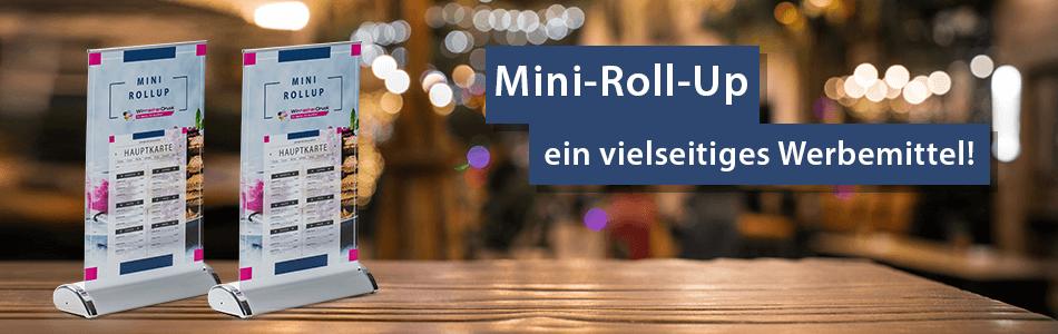 Mini Roll Up Günstig Online Bedrucken Lassen Wirmachendruckde