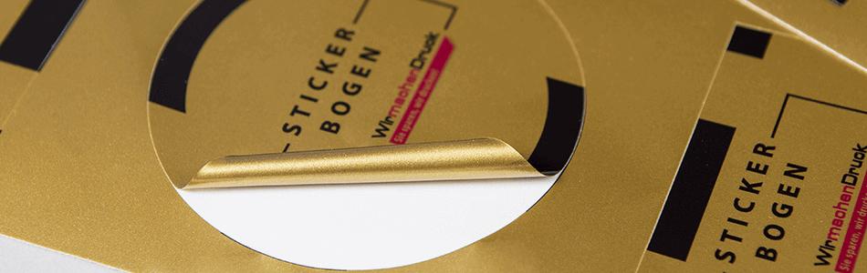 Aufkleber Gold Silberfolie Günstig Drucken